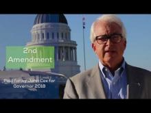 """2nd Amendment"" - Cox campaign ad, released September 28, 2017"