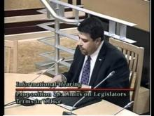 Fleischman Testifies Before Legislators On Prop. 28 -- JonSFleischman