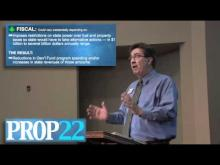 Rancho Cordova Mayor Ken Cooley reviews Proposition 22 -- Ken Cooley