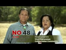 Bad Precedent - Vote NO on CA Prop 48
