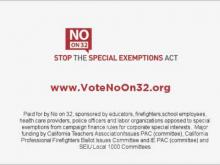 No on Proposition 32: Look Closely -- Special Exemptions Act