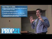 Rancho Cordova Mayor Ken Cooley reviews Proposition 21 -- Ken Cooley