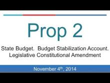 Proposition 2: Rainy Day Budget (California 2014 Midterm Election)