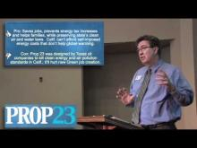 Rancho Cordova Mayor Ken Cooley reviews Proposition 23 -- Ken Cooley