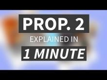 """Proposition 2 Explained in Under 1 Minute"" from CALMatters"